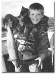 Chuck French grandson, Payson Searle, with a nice salmon.