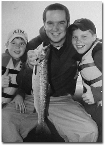 Chuck French's son, Andy, and Chick's two grandsons, Will and Tom MacPhee.