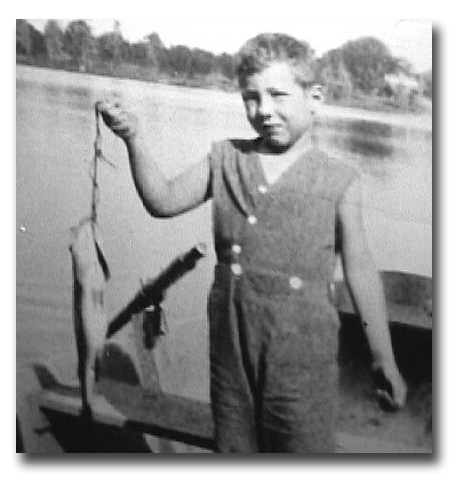 Jim Warner at age 6 getting started in his angling career.