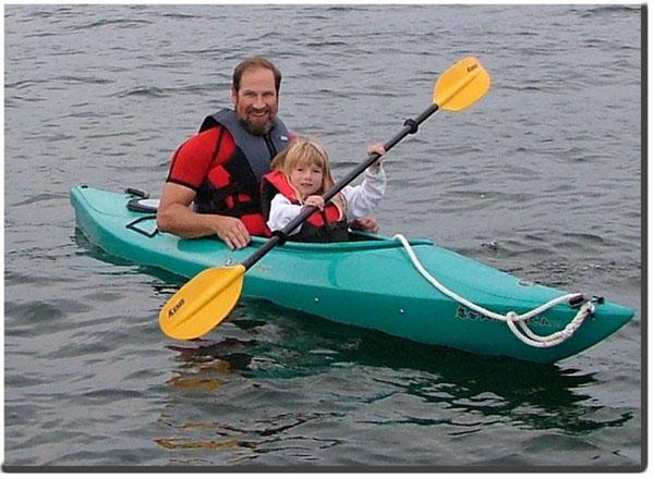 Kayak on Lake Winnipesaukee