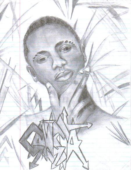 Pencil sketches - Gansta.