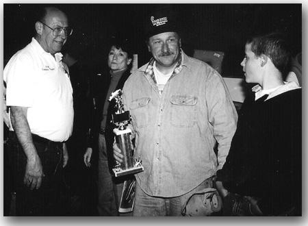 Rick Davis with the 2000 Grand Prize derby winner.