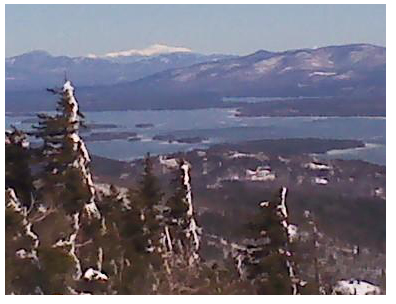 View of Lake Winnipesaukee and Mt. Washington
