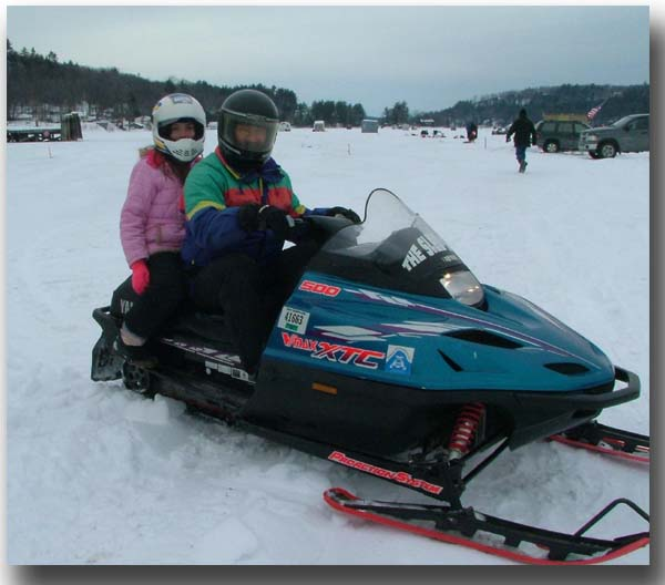 Snowmobiling Lake Winnipesaukee