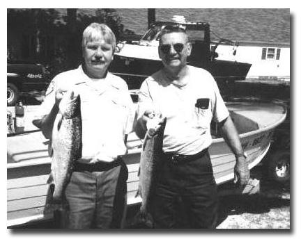 Ted St. Onge with New Hampshire Fish & Game Wildlife Biologist - Don Miller.