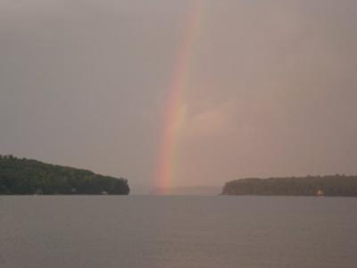 Rainbow over Lake Winnipesaukee